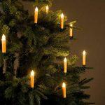 10 bougies LED pour sapin de Noël avec télécommande - coloris Or de la marque Lunartec image 1 produit