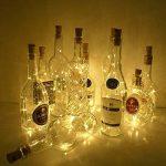 10 x 20 LEDs Guirlande lumineuse Blanc Chaud, SiFar 2M Lampes de Bouteille, bande lumière liège Bouchon de bouteille, Bouteille Guirlande Liège Lampes, Lumières étoilées à piles pour DIY Maison, Extérieur, Jardin, Terrasse, Mariage et Fête de Noël de la m image 3 produit