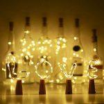 10 x 20 LEDs Guirlande lumineuse Blanc Chaud, SiFar 2M Lampes de Bouteille, bande lumière liège Bouchon de bouteille, Bouteille Guirlande Liège Lampes, Lumières étoilées à piles pour DIY Maison, Extérieur, Jardin, Terrasse, Mariage et Fête de Noël de la m image 4 produit