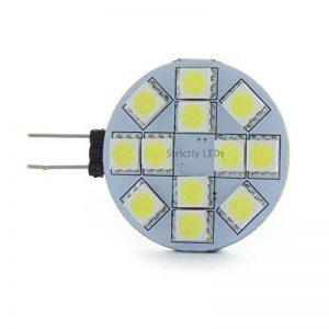 10x G4LED ampoules spots/12V, 2W, blanc froid, 25W halogène équivalent. Place Slice style, Capsule halogène de remplacement (fantastique pour les cuisines, les camping-cars, les caravanes, etc.) de la marque Discount-LEDs image 0 produit