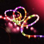 100LED Ruban Lumineux Solaire Lampes de Corde,KINGCOO étanche 39ft 12M Fil de Cuivre Extérieur Tube Rope Guirlande Lumineuse pour Noël Jardin cour Chemin Clôture Arbre Backyard (Multicolore) de la marque KINGCOO image 1 produit