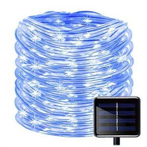 100LED Ruban Lumineux Solaire Lampes de Corde,KINGCOO étanche 39ft 12M Fil de Cuivre Extérieur Tube Rope Guirlande Lumineuse pour Noël Jardin cour Chemin Clôture Arbre Backyard (Bleu) de la marque KINGCOO image 0 produit