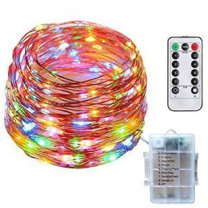 10M 100LEDs Multicolore Guirlande Lumineuse, SiFar IP68 8 Modes Luminaires extérieur Avec Télécommande, Pour Maison, Jardin, Mariage et Fête de Noël de la marque SiFar image 0 produit