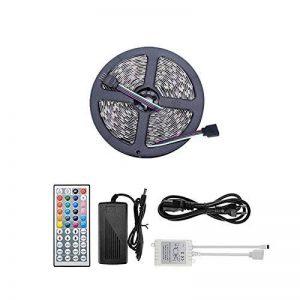 10M(5M*2) Rubans à LED Étanche IP65 LED Bande RGB 600SMD 120W 5050 30 LED/m avec 44 Touches LED Controller+DC 24V Adaptateur Secteur de la marque Maidodo image 0 produit
