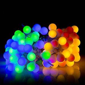 10M Guirlande Lumineuses Boules, 8 Modes d'éclairage avec Fonction de Mémoire, 100 LEDs Lumières Décoration pour Jardin Fête Noël Soirée Mariage, [Prise EU 31V DC] de la marque HanLuckyStars image 0 produit