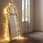 10M LED cordes Guirlande lumineuse 100LED imperméable blanc chaud romantiques avoirs actuels Transparent plug UE pour R Chambres lit Fête de Noël Mariage Chambre 220V-8 Type-extensible (couleur blanc de la marque OrangePlan image 2 produit
