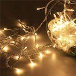 10M LED cordes Guirlande lumineuse 100LED imperméable blanc chaud romantiques avoirs actuels Transparent plug UE pour R Chambres lit Fête de Noël Mariage Chambre 220V-8 Type-extensible (couleur blanc de la marque OrangePlan image 4 produit