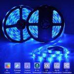 10m LED Ruban 5050 RGB 300 leds IP65 Étanche, ESEYE Kit Bande LED RGB+W 2.4W/m Flexible Multicolore Peut-Découpé Clignotant au Néon Decor Rubans Avec Télécommande/IR Récepteur/Alimentation 12V 5A de la marque ESEYE image 1 produit