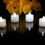 12 Bougies LED Chauffe Plat Blanches - Bougies à Piles avec Flamme Vacillante pour Mariage, Soirée de PK Green de la marque PK Green image 2 produit