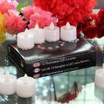 12 Bougies LED Chauffe Plat Blanches - Bougies à Piles avec Flamme Vacillante pour Mariage, Soirée de PK Green de la marque PK Green image 4 produit