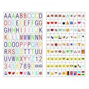 180 signes de cinéma incluant 90 lettres multicolores et 90 émoignes multicolores pour boîte à lumière cinéma A4 de la marque LitEnergy image 0 produit
