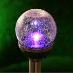 2 X Lampes Solaires Jardin à Verre Façon Craquelé Boules Lumineuses avec LED changements de Couleur pour Décorative Votre Jardin, Terrasse , Balcon par NORDSD de la marque NORDSD image 1 produit