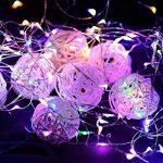 2 x10m Guirlande LED Lumineuse à Pile 100 LEDs Fonction Minuterie avec Télécommande IP65 Etanche Décoration intérieur et extérieur pour Noël Mariage Soirée Maison Jardin (multicolore) de la marque InteTech image 3 produit