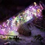 2 x10m Guirlande LED Lumineuse à Pile 100 LEDs Fonction Minuterie avec Télécommande IP65 Etanche Décoration intérieur et extérieur pour Noël Mariage Soirée Maison Jardin (multicolore) de la marque InteTech image 4 produit