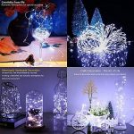 2 x10m Guirlande LED Lumineuse à Pile 100 LEDs Fonction Minuterie avec Télécommande IP65 Etanche Décoration intérieur et extérieur pour Noël Mariage Soirée Maison Jardin (blanc, 10m) de la marque InteTech image 4 produit