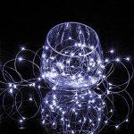 2 x50 LEDs Guirlande lumineuse fil Micro Batterie Opération et 2 Programme pour fête, jardin, Noël, Halloween, Mariage, éclairage décoratif Blanc froid de la marque BXROIU image 3 produit