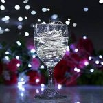2 x50 LEDs Guirlande lumineuse fil Micro Batterie Opération et 2 Programme pour fête, jardin, Noël, Halloween, Mariage, éclairage décoratif Blanc froid de la marque BXROIU image 4 produit