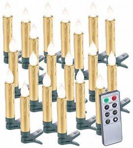 20 bougies LED pour sapin de Noël avec télécommande - coloris doré de la marque Lunartec image 0 produit