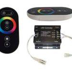 20mètres avec télécommande radio: Stripe Bande LED RVB professionnelle (M 30LED/m, IP65, 24V), contrôleur et bloc d'alimentation 3A de la marque LED Universum image 1 produit