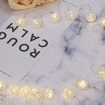 20mini boules verre brisé en fil Guirlande lumineuse LED en verre véritable cristal design Fonctionnement sur batterie intérieur Roman Décoration de table Blanc chaud gresonic, blanc chaud, 20er Bruchglaskugeln de la marque Gresonic image 2 produit