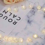 20mini boules verre brisé en fil Guirlande lumineuse LED en verre véritable cristal design Fonctionnement sur batterie intérieur Roman Décoration de table Blanc chaud gresonic, blanc chaud, 60er Perlen de la marque Gresonic image 2 produit
