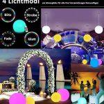 20cm Boule Lumineuse LED Lumière d'Ambiance avec Télécommande, Veilleuse LED Lampe de Chevet pour Enfants avec Couleur Changeante, 16 RGB Couleurs et Rechargeable Batterie de la marque COOL QING image 2 produit
