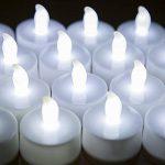 24 LED Bougies sans Flamme MAXAH Bougies à LED avec Piles pour plus de 70 Heures de Fonctionnement Belle Décoration de Maison Lot de 24 Bougies en Plastique un Effet de Scintillement pour les Fêtes Mariages Soirée Anniversaire Camping Blanche de la marque image 3 produit