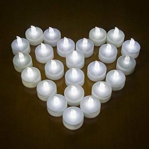 24 LED Bougies sans Flamme MAXAH Bougies à LED avec Piles pour plus de 70 Heures de Fonctionnement Belle Décoration de Maison Lot de 24 Bougies en Plastique un Effet de Scintillement pour les Fêtes Mariages Soirée Anniversaire Camping Blanche de la marque image 0 produit