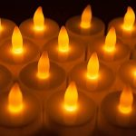 24 LED Bougies sans Flamme MAXAH Bougies à LED avec Piles pour plus de 70 Heures de Fonctionnement Belle Décoration de Maison Lot de 24 Bougies en Plastique un Effet de Scintillement pour les Fêtes Mariages Soirée Anniversaire Camping Jaune de la marque M image 2 produit
