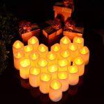 24 lumières de bougie, Lunsy lumières de thé sans flammes blanches et chaudes de LED, lumières de bougie alimentées par cellules de bouton pour le mariage de partie de décor de la marque Lunsy image 2 produit