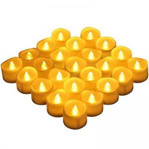 [24 Pack] AMIR Bougie LED, Bougies Sans Flamme, Lumière de thé de LED, Alimenté par Batterie, Éclairage pour Noël, Fête, Mariage (blanc chaud) de la marque AMIR image 0 produit
