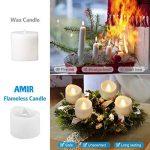 [24 Pack] AMIR Bougie LED, Bougies Sans Flamme, Lumière de thé de LED, Alimenté par Batterie, Éclairage pour Noël, Fête, Mariage (blanc chaud) de la marque AMIR image 3 produit