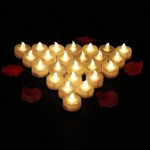 24 PCS Bougies LED Flamme Vacillante Lumière Ambre Chauffe-Plat avec Piles Décoration de Halloween Maison Mariage Anniversaire Soirée Fête de la marque Glamouric image 0 produit