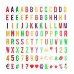 293 Lettres,nombres,symboles et emojis pour la boîte cinématique de format A4 Boîte Cinématique Enseigne Lumineuse Cinema Lumineuse A4 Boîte à Lumière LED de la marque JBOSE image 1 produit