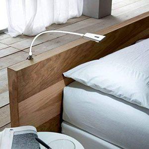 """2x SO-TECH® Lampe liseuse flexible """"Luminoso"""" LED Lampe de chevet DEL Lampe pour lire LED Lampe de lecture blanc incl. Alimentation électrique de la marque SOTECH image 0 produit"""
