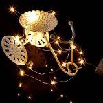 3–10m 30/40/50/100LED Micro fil Guirlande lumineuse décoration de Noël Fonctionnement sur batterie Fil de cuivre Motif Blanc chaud et froid 10M(100er LED) blanc chaud de la marque Hamimelon image 2 produit