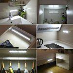 [3 Pack] AMIR Lampe Détecteur de Mouvement, Lampe de Placard, USB Rechargeable Veilleuse LED, 10 LED Lampe Escalier pour Cabinet Penderie Cuisine Armoire Placard Entrée Couloir Toilette Cabine (Blanc) de la marque AMIR image 1 produit