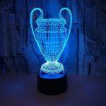 3D Illusion Lampe 7 Couleurs Changement Optique Tactile Lumière USB Art Déco Faites Une Ambiance Romantique Cadeau D'anniversaire De Noël (Coupe Du Prix) de la marque YUN Night Light@ image 1 produit