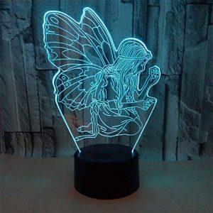 3D Lampes Illusions Optiques 7 Couleurs Changement Tactile Interrupteur Lumière De Nuit Art Déco Faites Une Ambiance Romantique Dans La Chambre Chambre D'enfants Salon Bar Café Restaurant,Ange de la marque YUN Night Light@ image 0 produit
