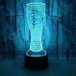 3D LED Lampe D'illusion Optique Veilleuse Chope À Biere Lumière De Nuit Avec Câble USB Et 7 Couleurs Décoration Pour Enfant Chambre Chevet Table De Bébé Enfant Cadeau De Noël Fête Anniversaire de la marque YUN Night Light@ image 2 produit