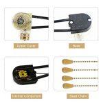 4 Pcs Tirer Interrupteur Maison Ventilateur Lampe Mur Lumière Remplacement Tirer la Chaîne Cordon Commutateur de la marque Zerodis image 1 produit