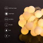 40 Boules 5M Chaîne de Lumières, LOHAS Guirlande Lumineuses à Petite Boules, Blanc Chaud, Décoration Pour Noël, Halloween, Mariage, Anniversaire, Maison, Jardin, Pâques, Terrasse, Pelouse, Lot de 1 de la marque LOHAS-LED image 2 produit