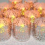 48 Argent Color Décoratif Tea Light Wraps / titulaires de flammes Tealights et votive bougies de la marque Frux Home and Yard image 1 produit