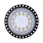 【50W Ultra-Mince Led Projectur】 Viugreum 50W UFO Spot Lustre Haute Baie Lumière, 5000LM , Etanche IP65 Extérieur et Intérieur Blanc Froid (6000K) Eclairage de Sécurité pour Usine, Atelier, Terrasse, Square[Classe énergétique A+] (La Troisième Génération) image 1 produit
