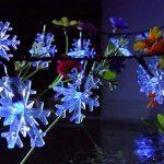 5M Guirlande Lumineuse à LED de Noël (Bleu) Flocon de neige Forepin® 40 LEDs Twinkle Flash Mode Batterie Piles (3*AA non inclus) de la marque forepin image 2 produit