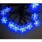 5M Guirlande Lumineuse à LED de Noël (Bleu) Flocon de neige Forepin® 40 LEDs Twinkle Flash Mode Batterie Piles (3*AA non inclus) de la marque forepin image 3 produit