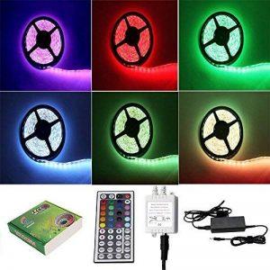 5M LED Bande SMD5050 300 Ampoules Eclairage Etanche Flexible Adapteur Inclus (Multicolore RGB) - PL709A+EU de la marque TKOOFN image 0 produit