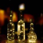 6 Guirlandes Lumineuses à Bouchon avec Tournevis, AFUNTA Lot de 6 Rubans à LED Lumière de Liège, 0.76m Fil de Cuivre 15 Ampoules pour Chambre Maison Fête Mariage Festival Concert Arbre de Noël Décoration - Blanc Chaud de la marque AFUNTA image 2 produit