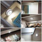 (6 Pack) Lampes LED à Détecteur, AMIR Lampe Détecteur de Mouvement, Lampe de Placard, Alimenté par Batterie (non Inclus), pour Escalier, Armoires, Placards, Alimenté, Facilité d'installation (Blanc) de la marque AMIR image 1 produit