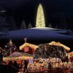 6 x 3 600 Mètres Rideaux droits LED avec fonction mémoire d'alimentation principal de l'UE Prise Costume pour soirée de mariage Décoration de vacances (blanc chaud) de la marque EchoSari image 1 produit